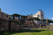 View Of Altare Della Patria From Fori Imperiali, Rome, Lazio, Italy