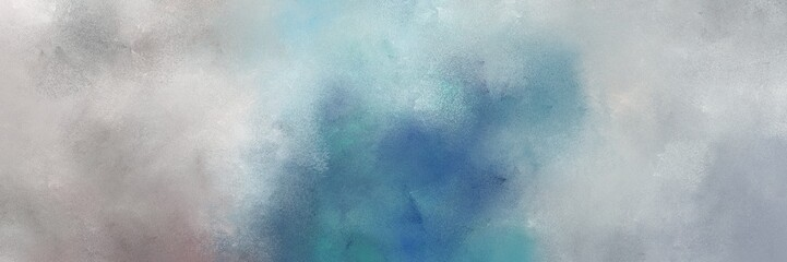 Panel Szklany Podświetlane Abstrakcja abstract painted art decorative horizontal background design with ash gray, silver and teal blue color