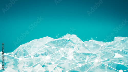 Light blue halftone pattern with white line motion backdrop wallpaper Wallpaper Mural