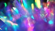 canvas print picture Neon, pink, purple, blue colors abstract vibrant iridescent background. Light through a crystal prism