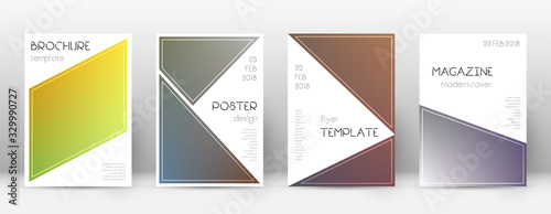 Flyer layout. Triangle delicate template for Broch Canvas Print