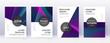 Modern brochure design template set. Neon abstract