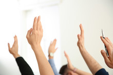 People Raising Hands To Ask Qu...