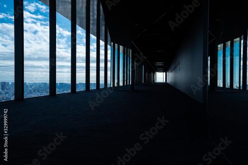 展望台の眺めと大きな窓 Canvas Print