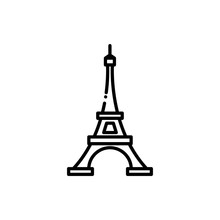 Eiffel Tower  Vector Icon Line Style Illustrations.
