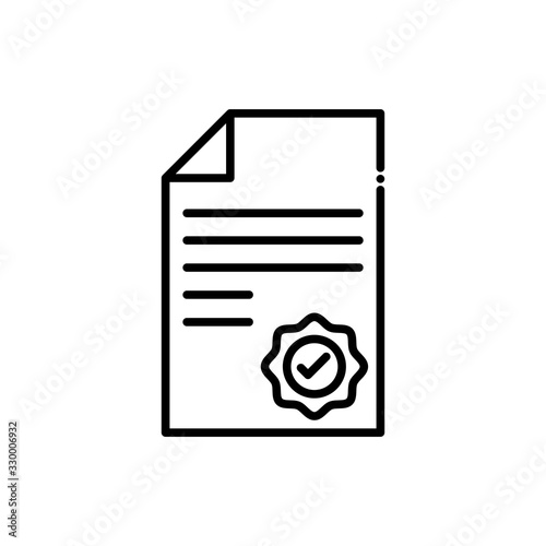 Photo Attestation  Vector Icon Line style Illustrations.