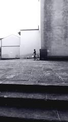 Obraz na płótnie Canvas Side View Of Man With Dogs On Sidewalk