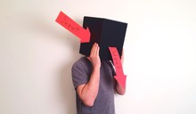Man Wearing Box With Input And...