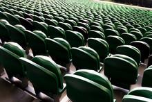Empty Plastic Seats In A Stadi...