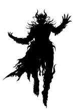 The Silhouette Of A Demon Wiza...
