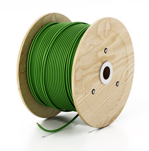 Electric Cable Spool Isolated ...