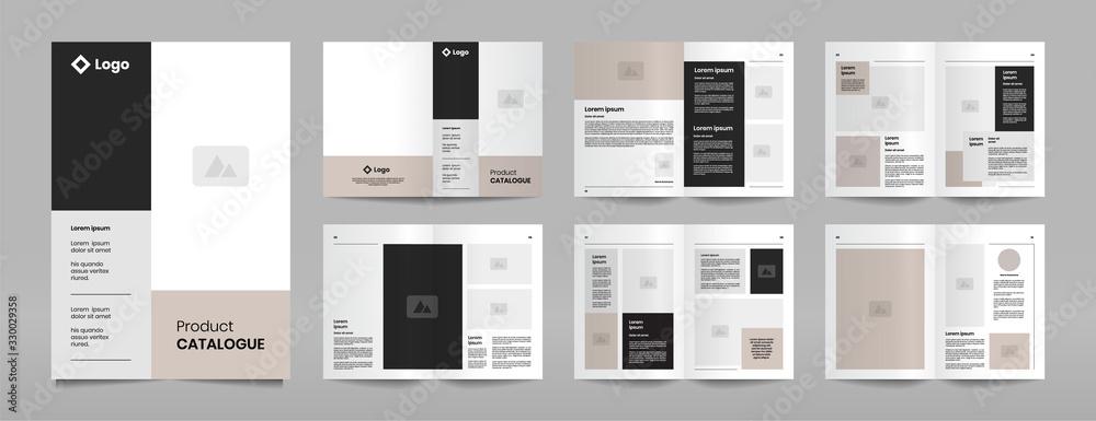 Fototapeta modern company product catalogue design template