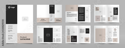 Fototapeta modern company product catalogue design template obraz