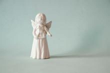 White Porcelain Angel Figure O...