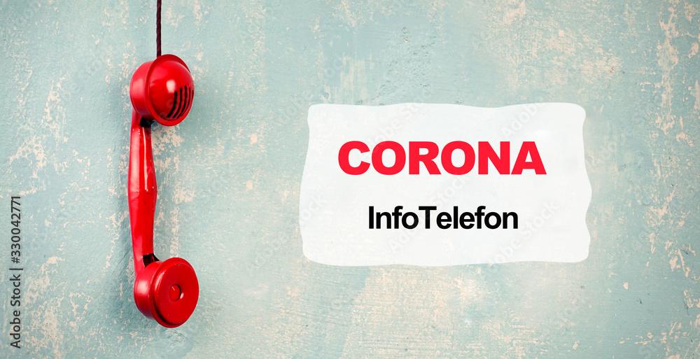 Fototapeta Infotelefon Coronavirus