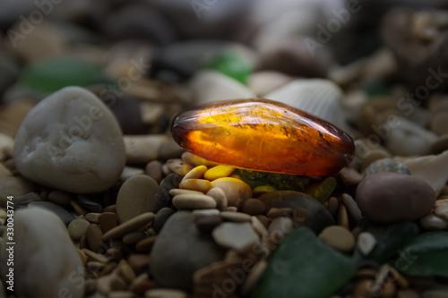 Amber stone Canvas Print