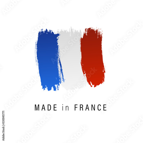 Drapeau français, made in France, fabriqué en France. Fotomurales