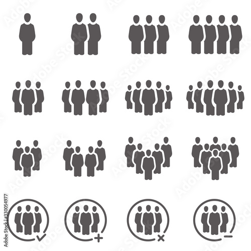 people and population icon set,vector and illustration Canvas Print