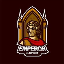 Emperor E-sport Gaming Mascot Logo Template