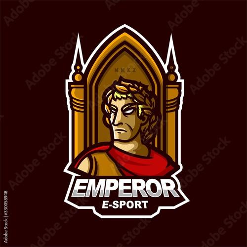 Fotomural emperor e-sport gaming mascot logo template