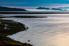 Dawn Over Calm Seas At Port Hardy, Vancouver Island, British Columbia, Canada