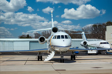 Two Luxury Private Jets On The...