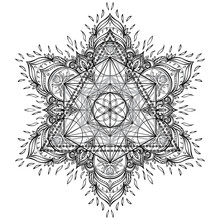 Mandala. Beautiful Vintage Rou...