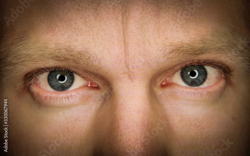 Obraz Midsection Of Man With Gray Eyes - fototapety do salonu