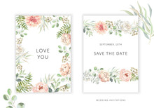 Wedding Cards Design. Blush Pi...