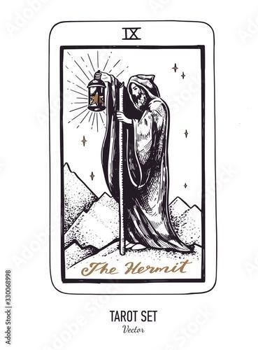 Fototapeta Vector hand drawn Tarot card deck