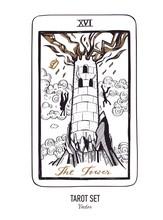Vector Hand Drawn Tarot Card D...