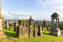 Historic Glasgow Cemetery - Necropolis. Glasgow, Scotland, UK