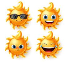 Sun Character Vector Set. Sun ...