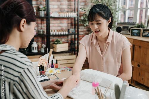 Photo nails design manicure pedicure beauty and health care concept