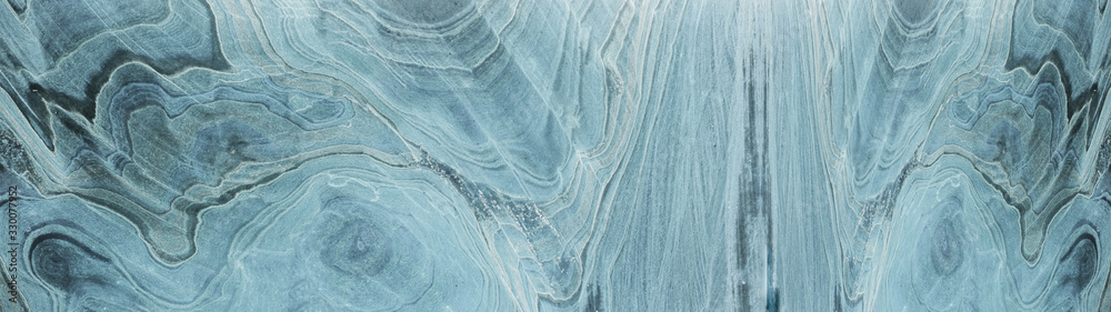 Fototapeta Turquoise aquamarine white abstract marble granite natural stone texture background