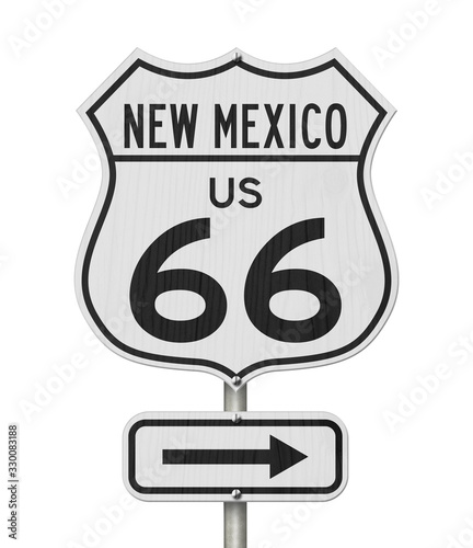New Mexico US route 66 road trip USA highway road sign Canvas Print