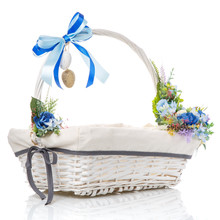 Easter Basket With Decor Of Bl...