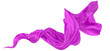 canvas print picture - Beautiful flowing fabric of magenta wavy silk or satin. 3d rendering image.
