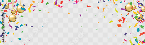 Canvastavla Color Glossy Balloons Background Illustration