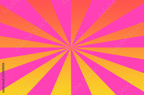 Vászonkép An abstract colorful sunburst background image.