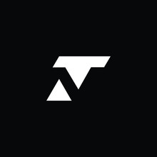 Minimal Elegant Monogram Art Logo. Outstanding Professional Trendy Awesome Artistic TN NT Initial Based Alphabet Icon Logo. Premium Business Logo White Color On Black Background