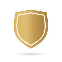 Golden Shield Icon- Vector Ill...