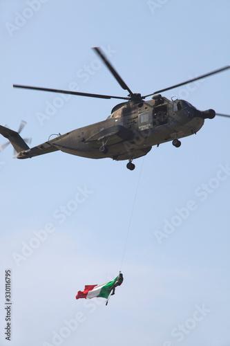 Cameri (NO), Italy - October 04, 2009: Military airbase Cameri, the Italian acrobatic team Frecce Tricolori during an airshow Tablou Canvas
