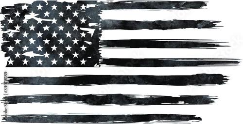Obraz USA Flag, watercolor flag - Distressed american flag, usa flags. EPS 10, Clip art, - fototapety do salonu