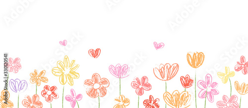 Draw vector banner beauty flower for spring season.