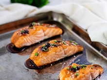 Savory Honey And Ginger Glazed Salmon