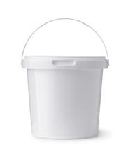 White Plastic Food Bucket