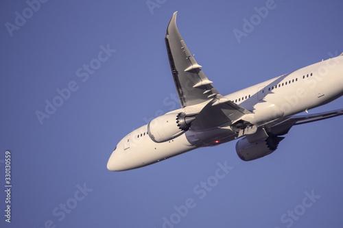 飛行機 旅客機  着陸 Canvas Print