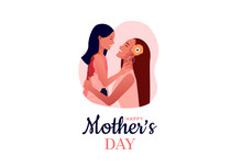 Happy Mother's Day. Mom Hugs H...