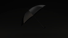 Black Umbrella Black Backgroun...